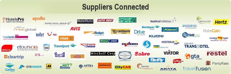 Travel Suppliers Integrated by TravelCarma