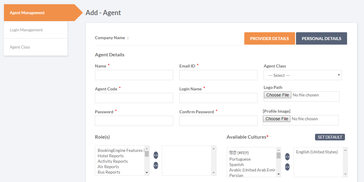 B2B Agent Management - Add Agent