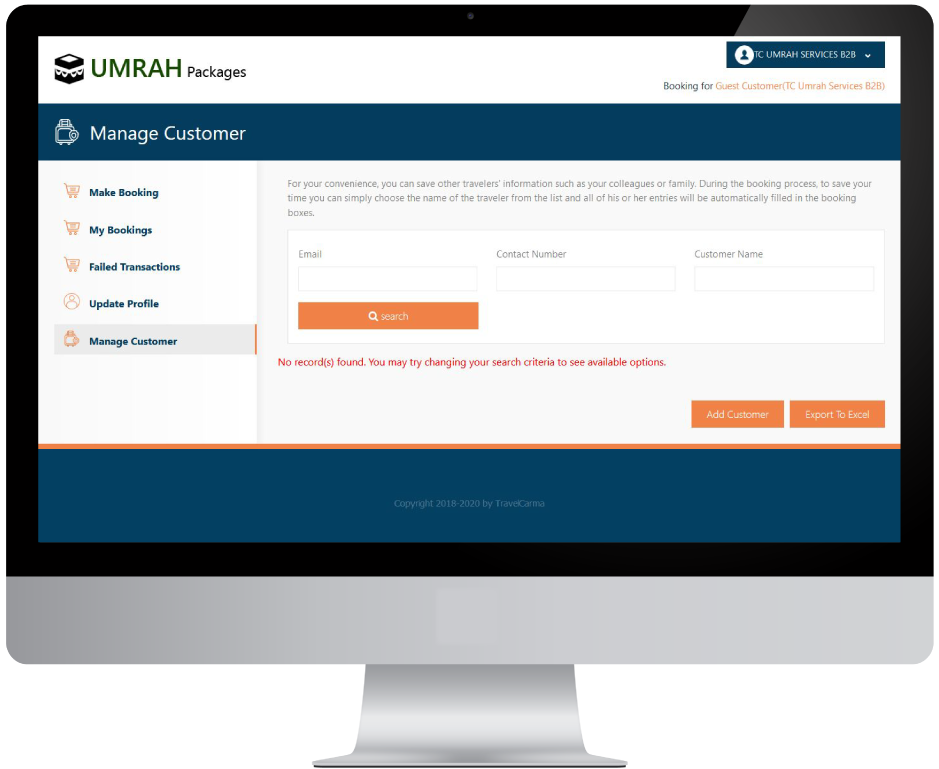 B2B Manage Customer