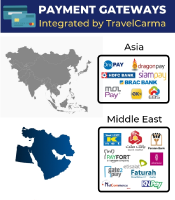Payment Gateways Integrated by TravelCarma