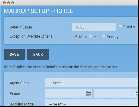 TravelCarma Agent Markup Setup
