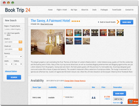 TravelCarma Booking Engine Hotel Details
