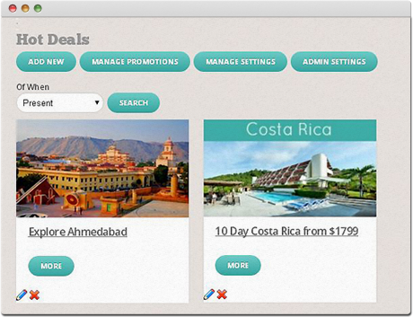 TravelCarma CMS Hot Deals