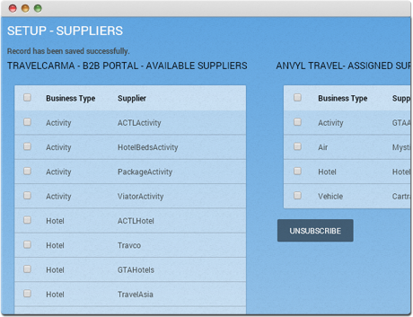 TravelCarma XML API Suppliers