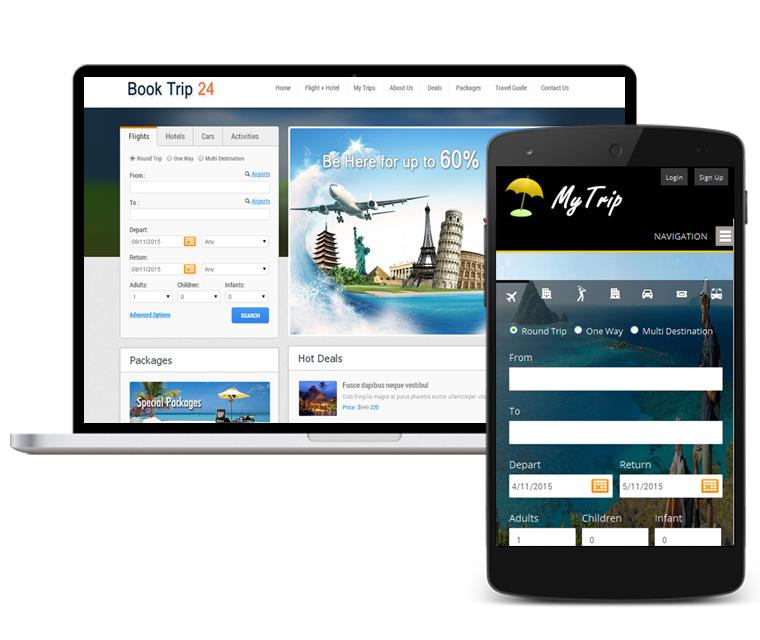 Software de agencia de viajes | Sitios web | Motor de reservas ...