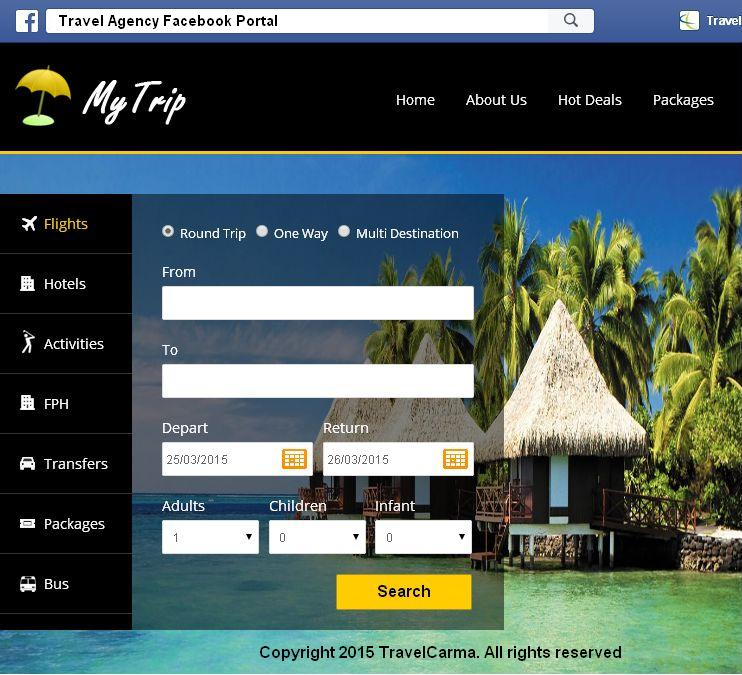 Travel ERP - Facebook Booking Engine